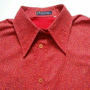 Red Button down long sleeve shirt France